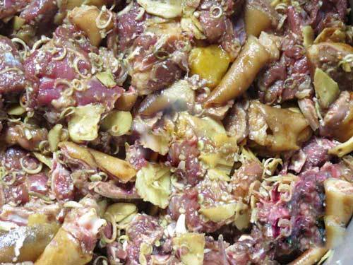 cách nấu thịt chó miền Bắc thơm nức mũi 4