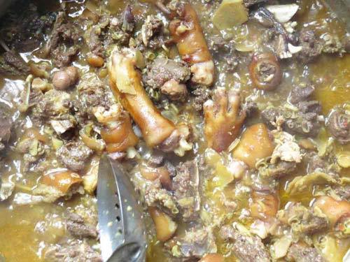cách nấu thịt chó miền Bắc thơm nức mũi 5