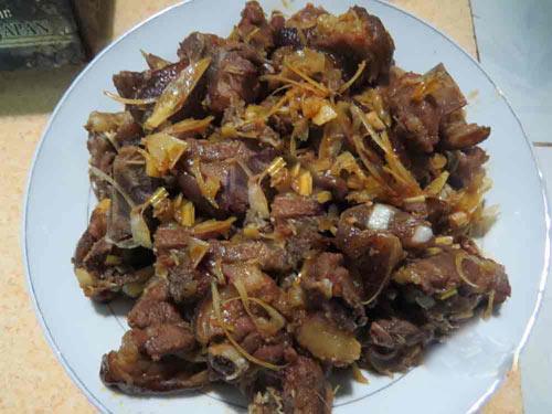 cách nấu thịt chó miền Bắc thơm nức mũi 6
