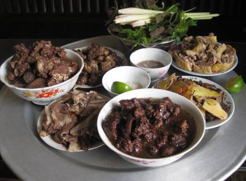 cách làm thịt chó nấu củ chuối ngon 1