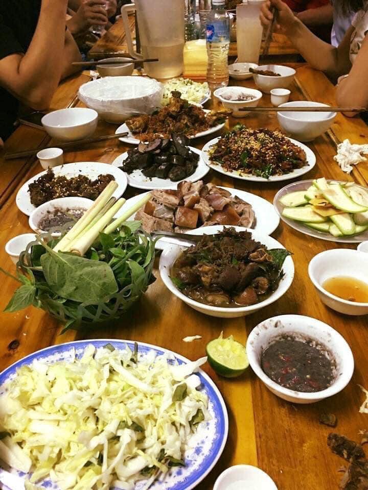 thịt chó đủ món nhà hàng chó chặt Thái Hoàn 1