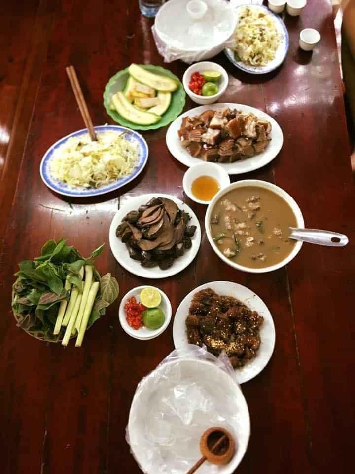 thịt chó đủ món nhà hàng chó chặt Thái Hoàn 2