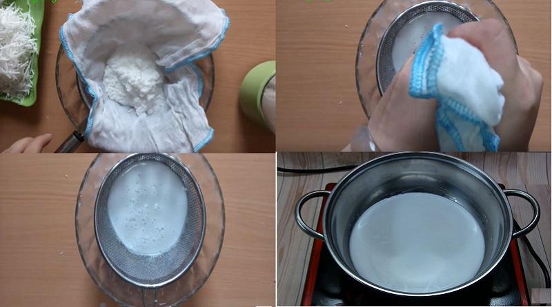 nấu nước cốt dừa 1