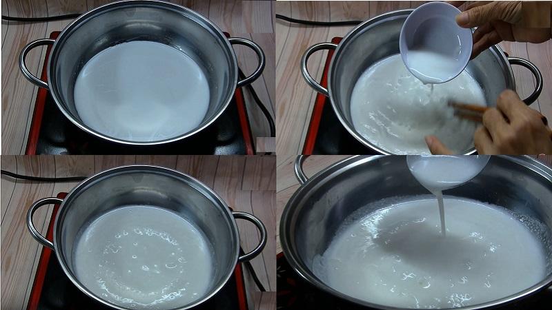 nấu nước cốt dừa 2