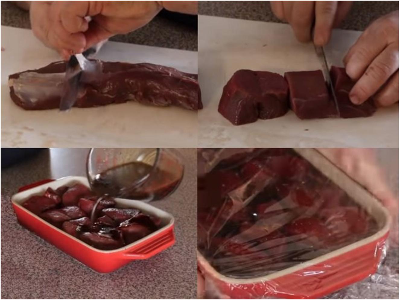 Ướp thịt nai nướng bằng sốt Worcestershire
