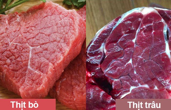 phân biệt thị trâu và thịt bò