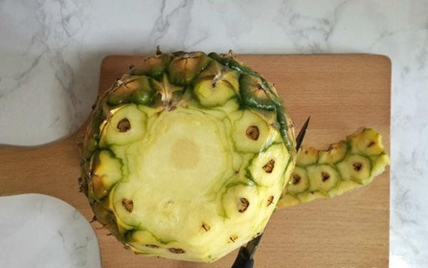 sơ chế trái thơm
