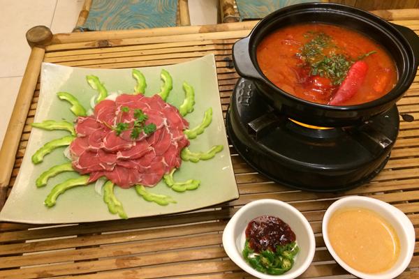 thịt bò nhúng ớt chua cay 1