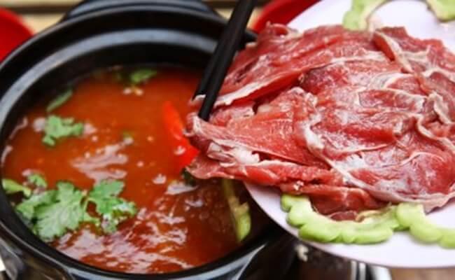 thịt bò nhúng ớt chua cay 4