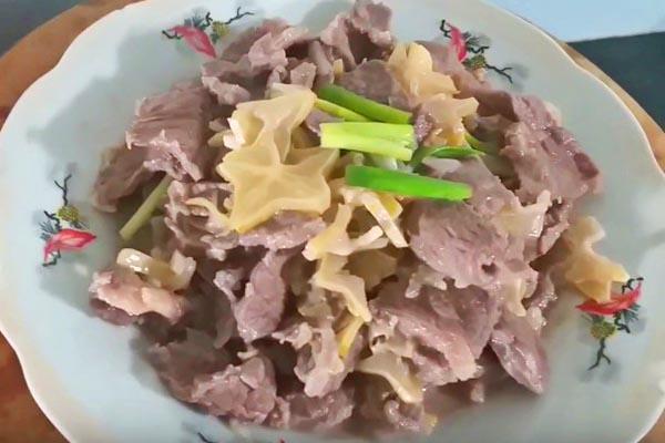 thịt trâu xào khế