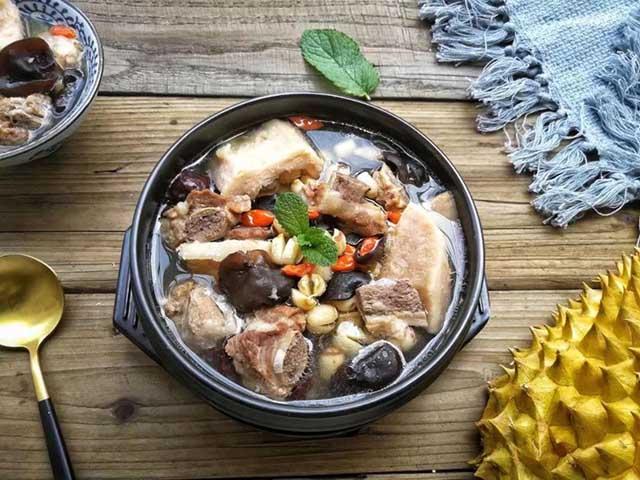 Vỏ sầu riêng dùng để chế biến món ăn