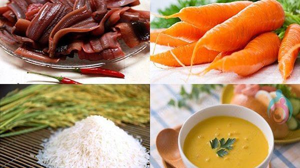 Cháo lươn nấu với rau gì cho bé ăn dặm 3