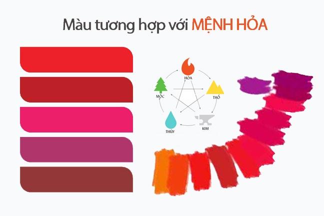 Các màu sắc hợp mệnh Hỏa