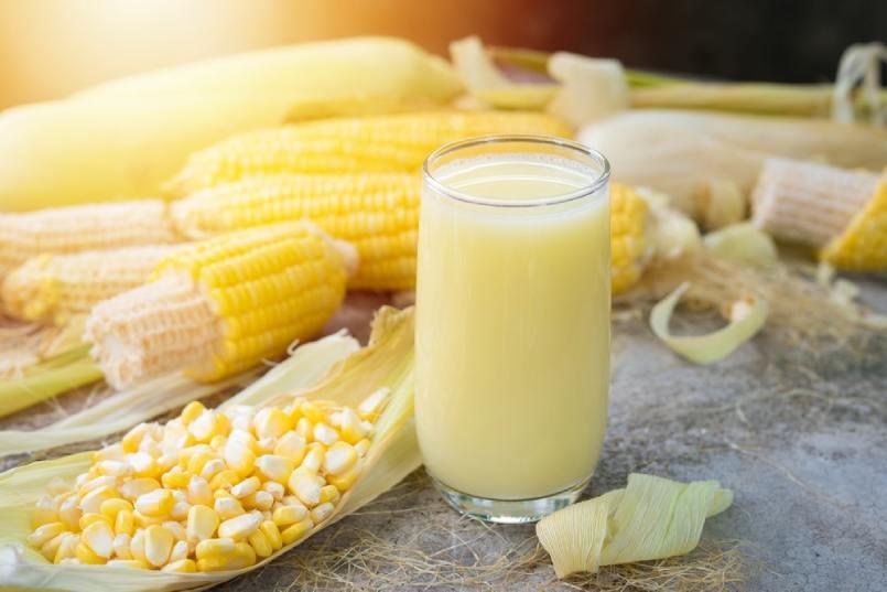 uống sữa bắp có mập không