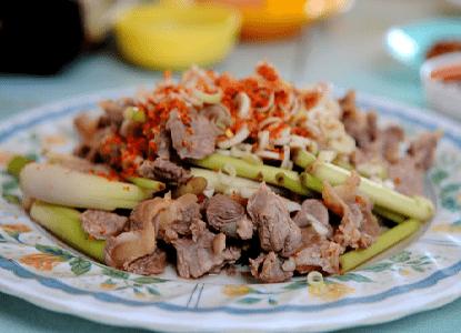 cách làm thịt trâu xào sả ớt