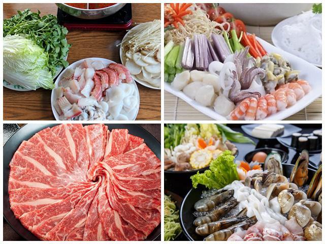 Nguyên liệu nấu lẩu thái hải sản chua cay