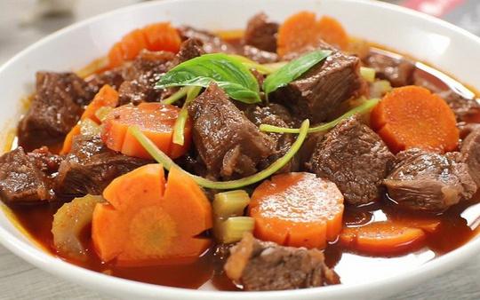 cách nấu sốt vang thịt trâu