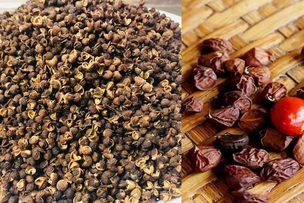 Hạt mắc khén và hạt dỗi