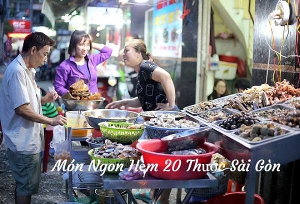 Khu ăn vặt đường 20 Thước - Sài Gòn