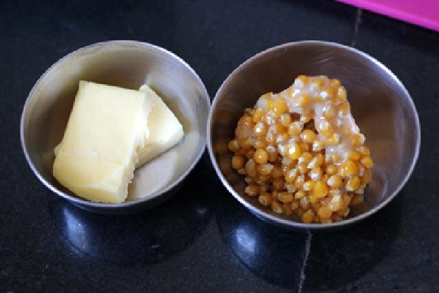 cách làm bắp rang bơ bằng chảo 1
