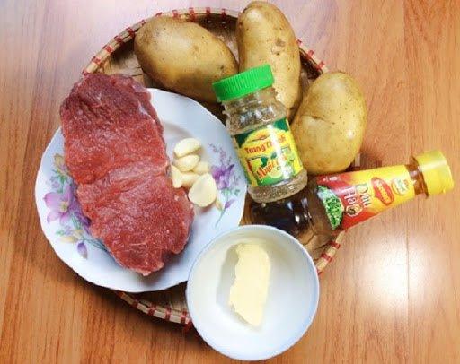 cách làm bò lúc lắc khoai tây 1