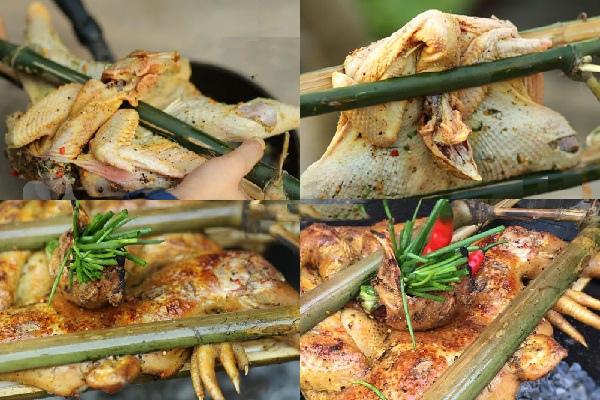 cách làm gà nướng than hoa 3