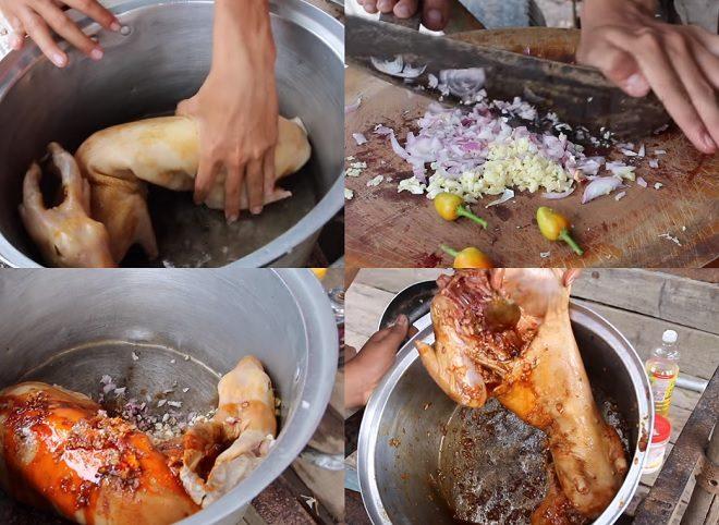 Ướp thịt thỏ nướng