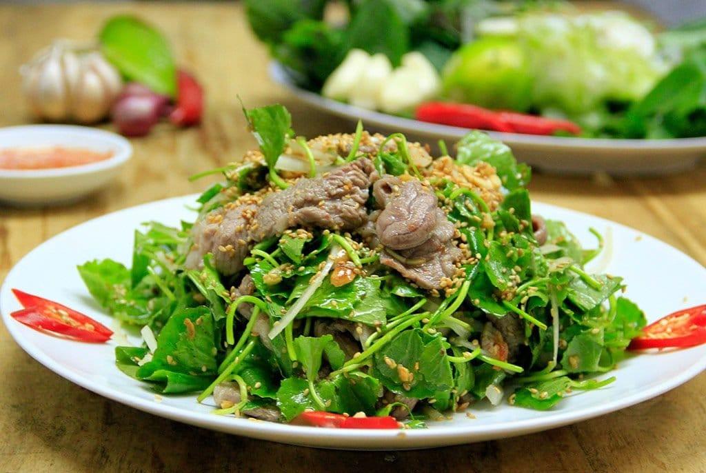 Cách làm thịt thỏ xào rau má 2