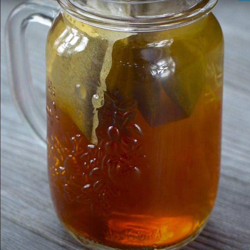 cách làm trà đào cam sả 4