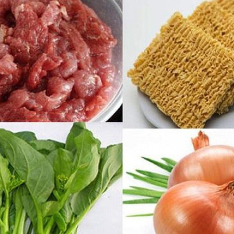 mì xào bò rau cải 1