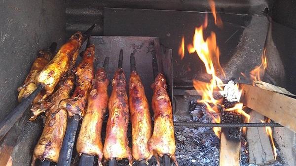 Thịt chuột nướng Nam Định