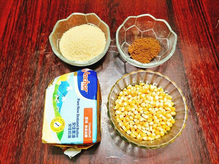 nguyên liệu làm bắp rang bơ 1