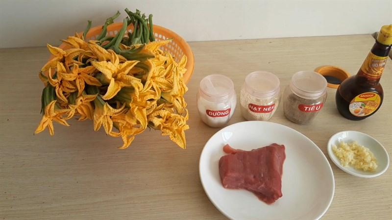 bông bí xào thịt bò 2