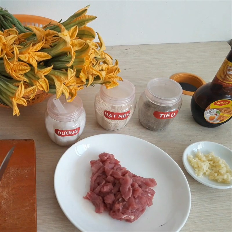 bông bí xào thịt bò 3