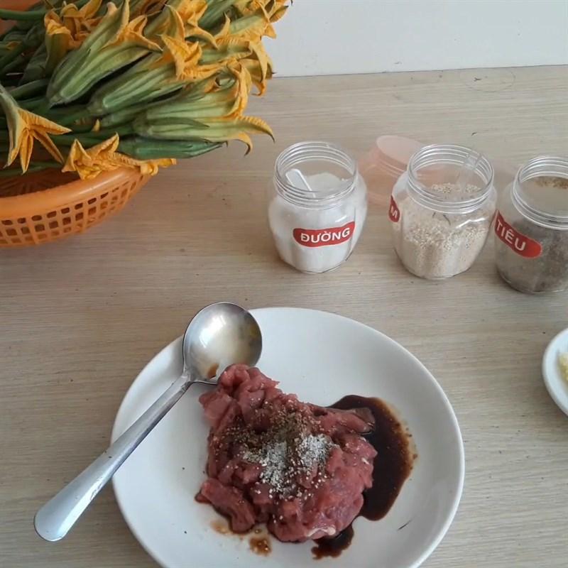bông bí xào thịt bò 5