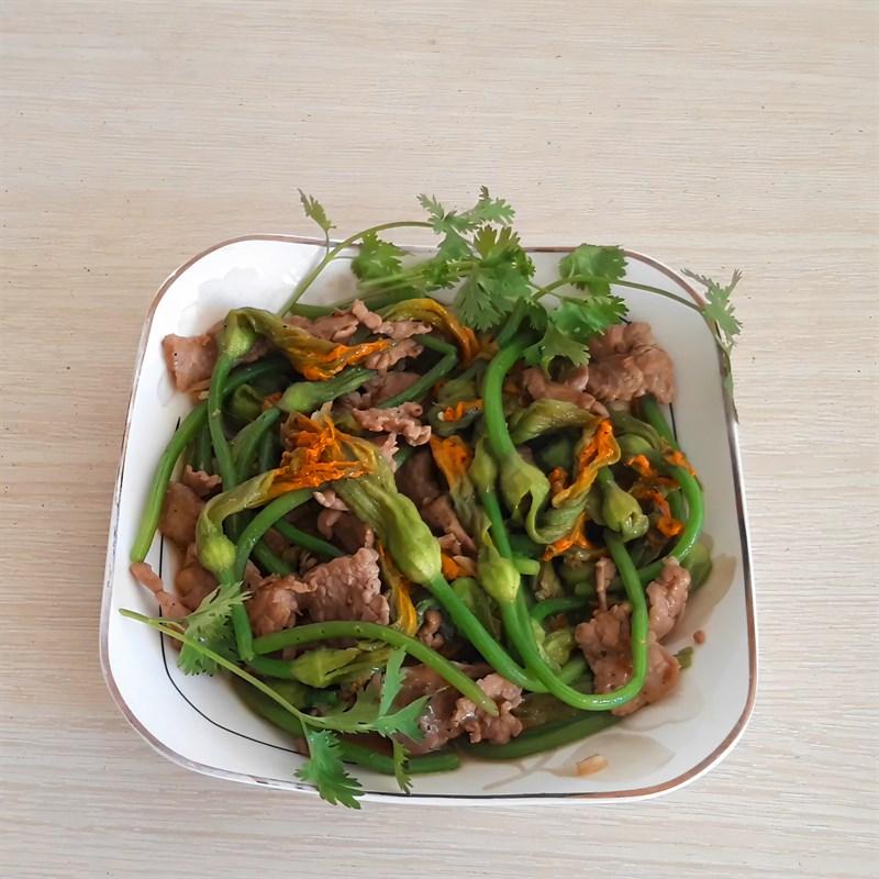 bông bí xào thịt bò 8