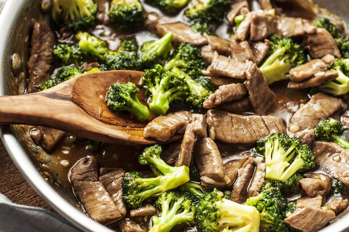 bông cải xào thịt bò 1
