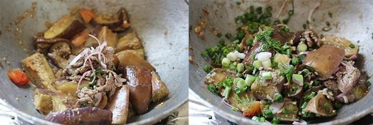 cà tím xào thịt bò 6