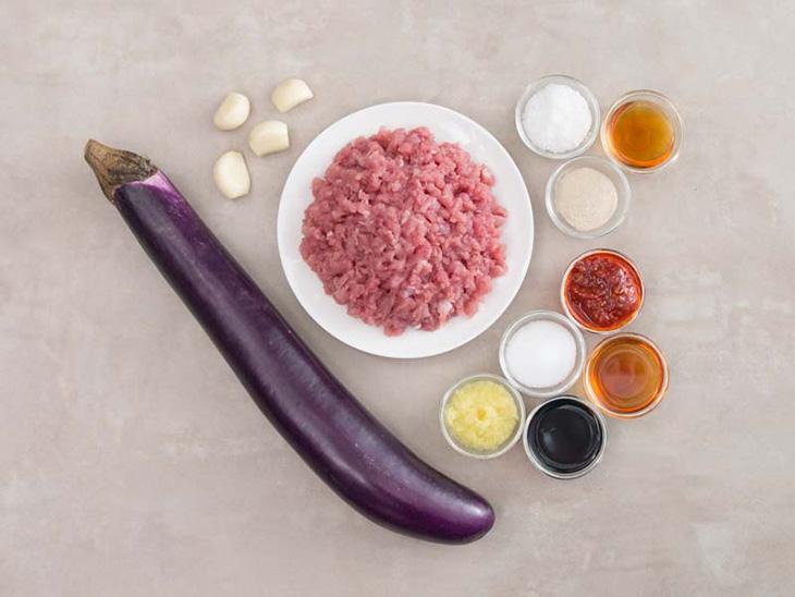 cà tím xào thịt bò băm 1