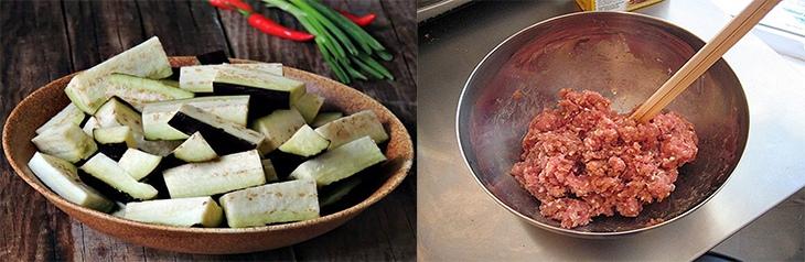cà tím xào thịt bò băm 2