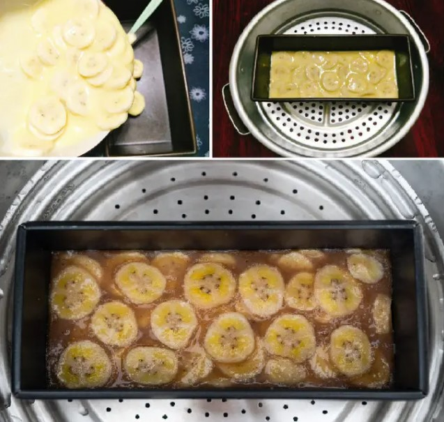 cách làm bánh chuối hấp nước cốt dừa 4