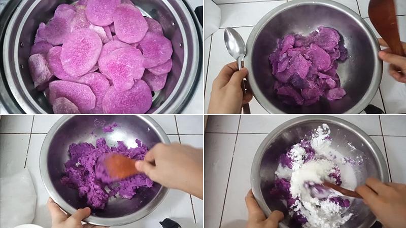 cách làm bánh khoai mỡ hấp 1