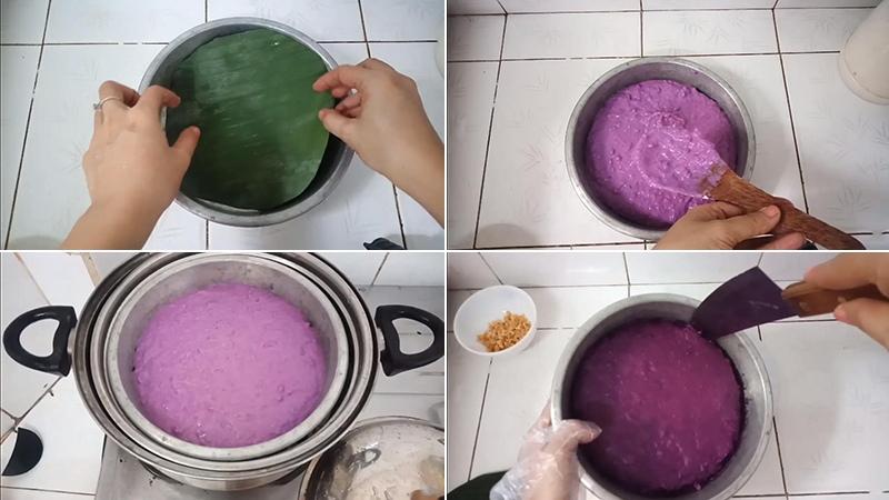 cách làm bánh khoai mỡ hấp 3
