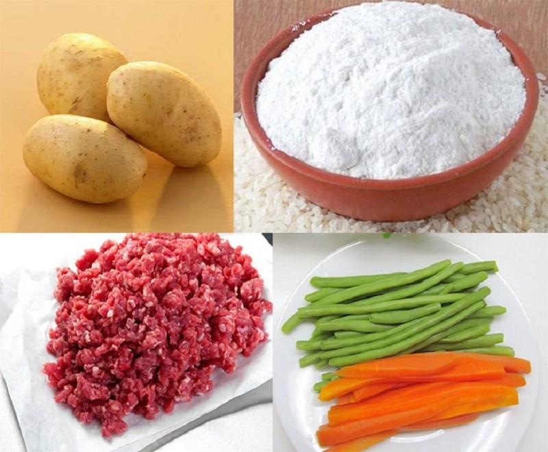 cách làm bánh khoai tây nhân thịt 1