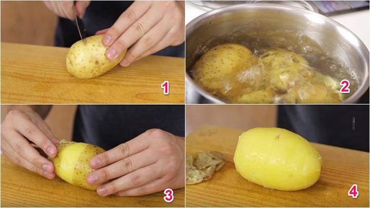 cách làm bánh khoai tây nhân thịt 3