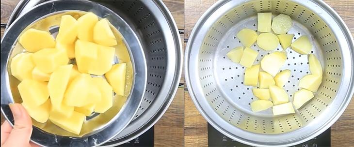 cách làm bánh khoai tây nhân thịt 4