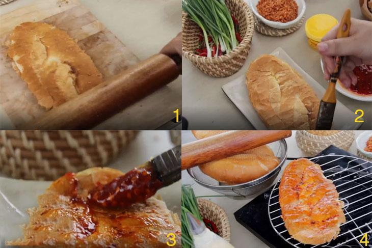 cách làm bánh mì nướng muối ớt bằng lò nướng 4