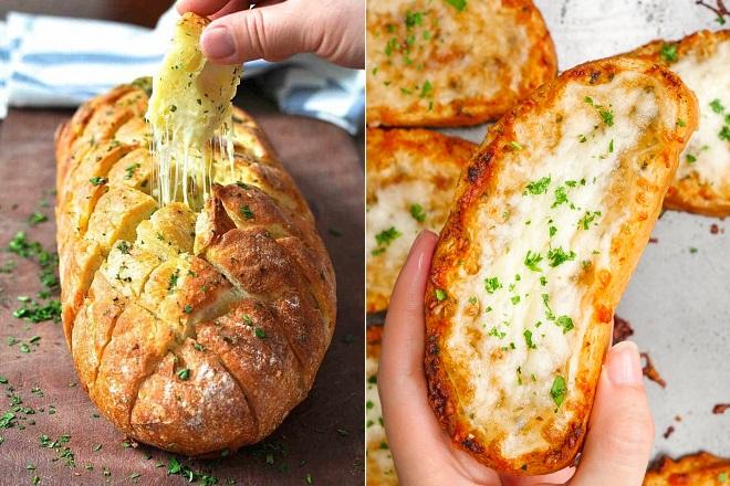 cách làm bánh mì nướng muối ớt kẹp phô mai 1