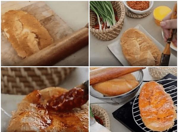 cách làm bánh mì nướng muối ớt sa tế tôm khô 4