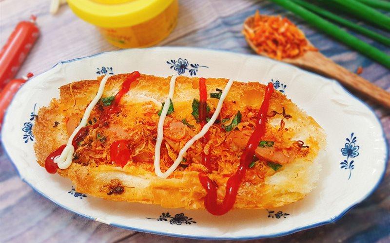cách làm bánh mì nướng muối ớt sốt bơ 3